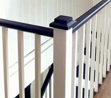 Black and White Painted Staircase Transformation