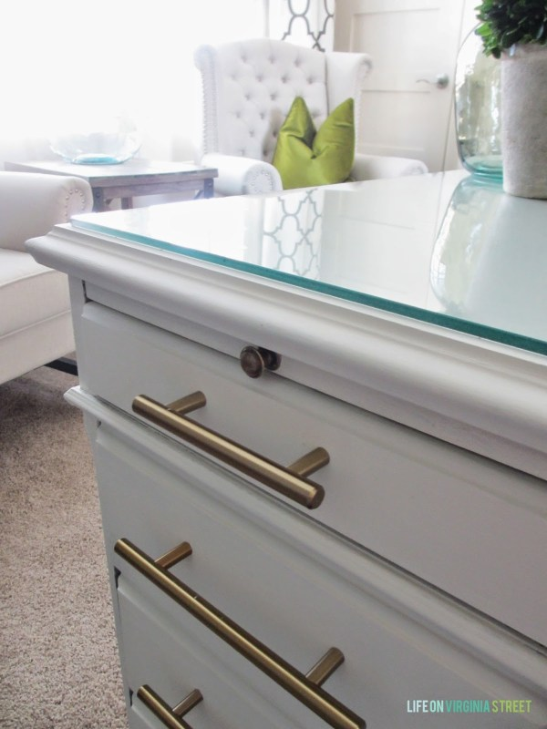 chalk painted desk, Life on Virginia Street on Remodelaholic