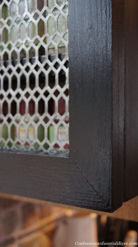 diy spice cabinet detail, Confessions of a Serial DIYer on Remodelaholic