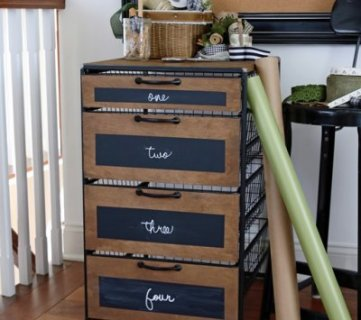 24 Clever Ways to Organize Gift Wrap Supplies ~Tipsaholic.com #wrapping #giftwrap #organization