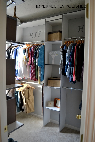 His And Hers Master Closet Redo | Imperfectly Polished On Remodelaholic.com