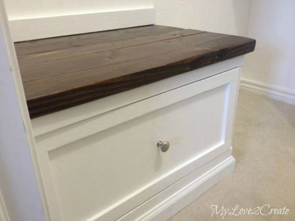 master closet bench with drawer, My Love 2 Create on Remodelaholic
