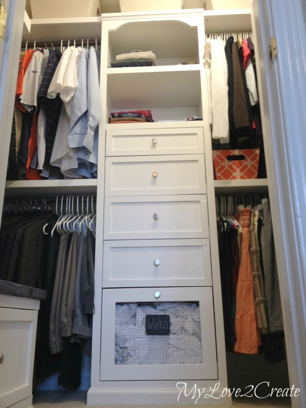 master closet makeover, My Love 2 Create on Remodelaholic