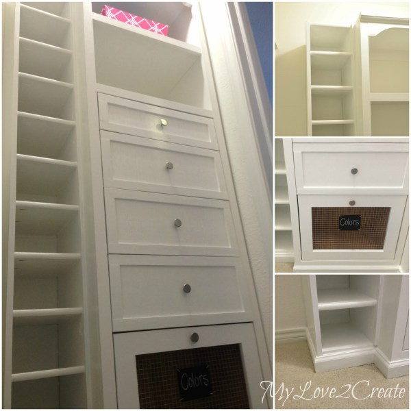 master closet storage towers, My Love 2 Create on Remodelaholic