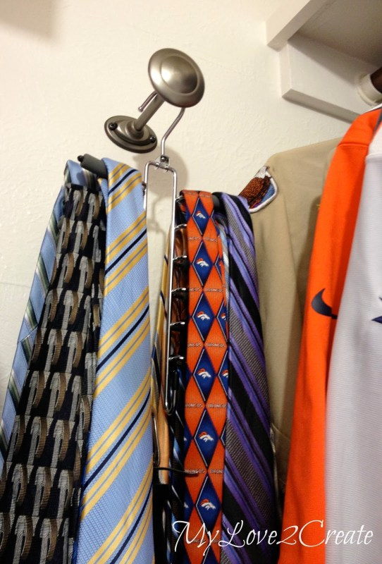 master closet tie storage, My Love 2 Create on Remodelaholic