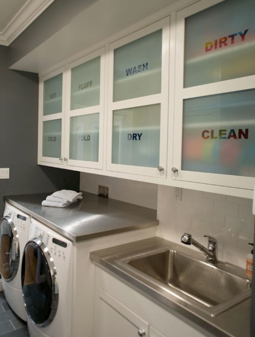 modern cabinet frosted glass