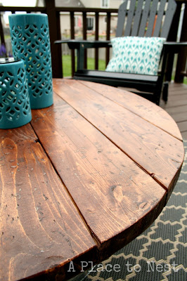 Outdoor Coffee Table With Metal Bucket Base DIY