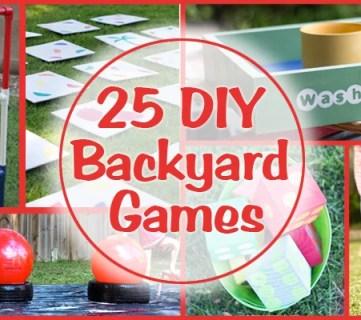 25 DIY Backyard Games