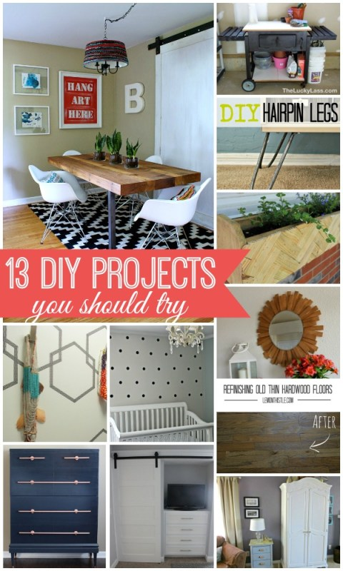 13 DIY Projects You Should Try via Remodelaholic.com #diy #trythis
