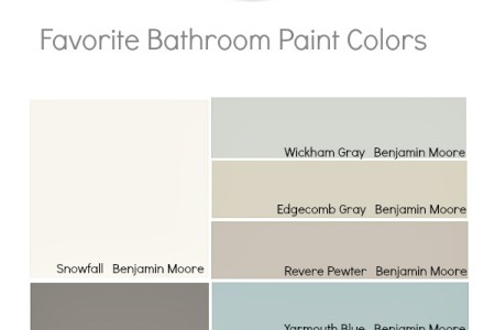 Remodelaholic   Tips and Tricks for Choosing Bathroom Paint Colors Tips and Tricks for Choosing Bathroom Paint Colors on Remodelaholic com   paintpalette  colors