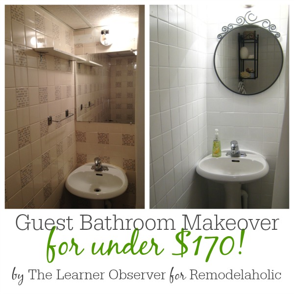a 170 bathroom makeover with painted tile