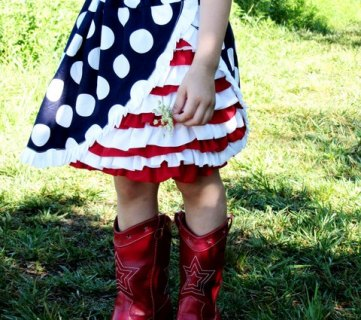 30 Cute Kids' Clothes DIY's for July 4th