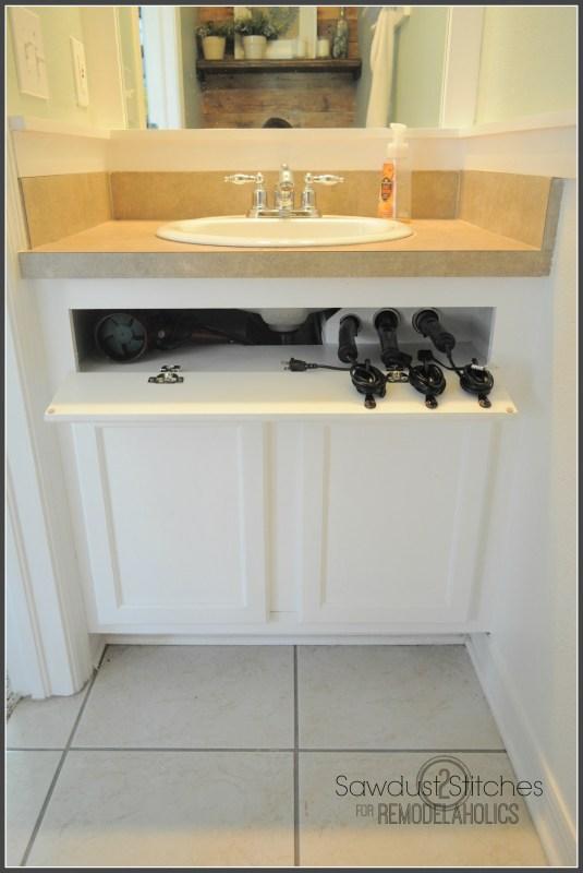 DIY Hair Care Storage remodelaholic.com