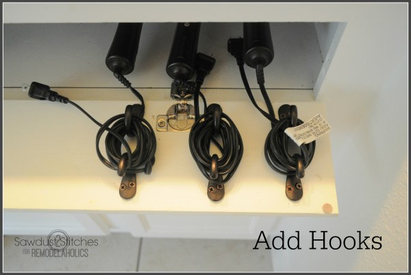 DIY Hair Care Storage remodelaholic.com