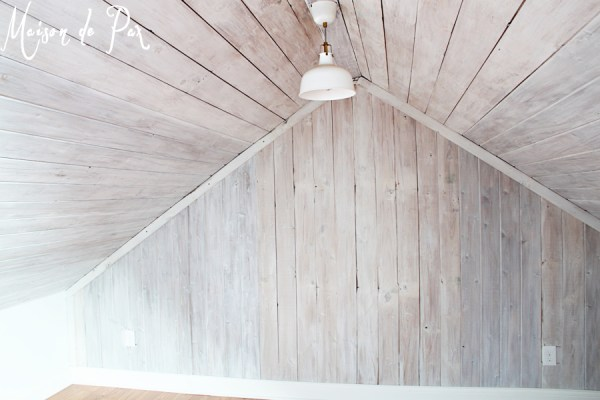 how to install a whitewashed plank wall, Maison de Pax on Remodelaholic