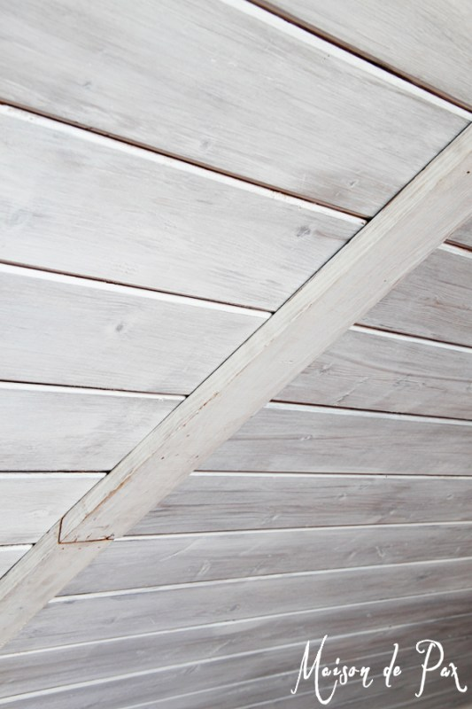 How to match old whitewashed wood planks to new planks, Maison de Pax on Remodelaholic.com