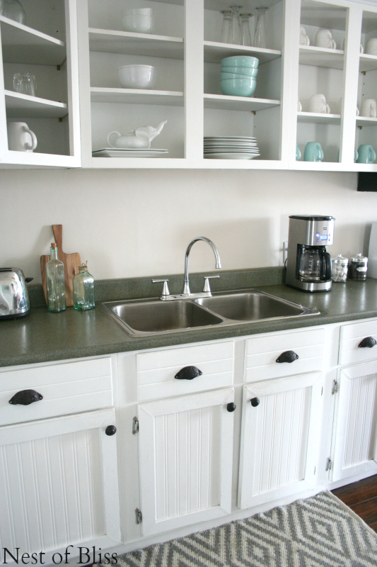 remodelaholic how to spray paint faux granite countertops rh remodelaholic com COUNTERTOP Paint Kits Spray Painting Laminate Countertops