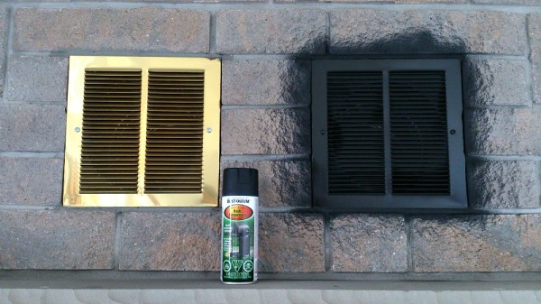 how to spray paint fireplace vents, Dans le Lakehouse on Remodelaholic