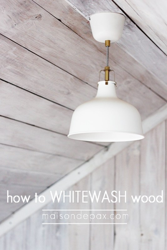 How to whitewash wood for a plank wall | Maison de Pax on Remodelaholic.com