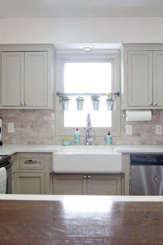 remodeled kitchen with apron sink, Ramblings from the Burbs on Remodelaholic