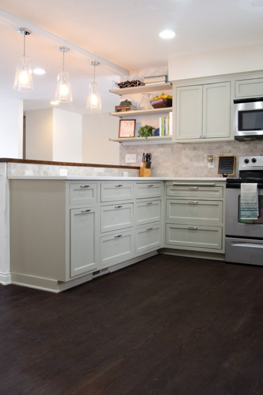 Remodeled Kitchen with Refinished Hardwood Floors | Ramblings from the Burbs on Remodelaholic.com