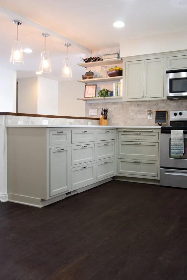 Remodelaholic | Remodeled Kitchen with Refinished Hardwood Floors
