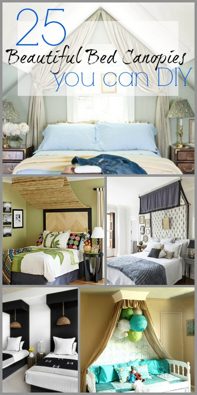 25 Beautiful Bed Canopies you can DIY | @Remodelaholic #home #design #bedroom #bed #canopy