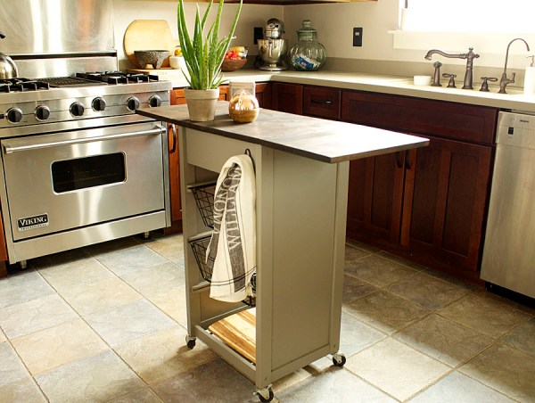 trash to treasure kitchen island makeover