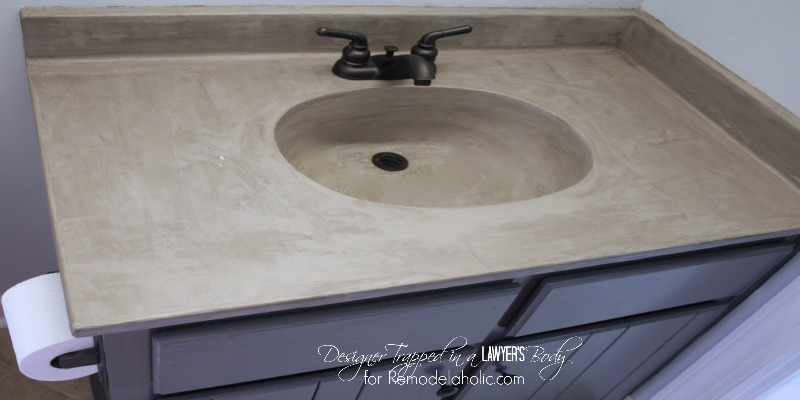 Superb Remodelaholic Diy Concrete Vanity With Integral Sink Download Free Architecture Designs Xerocsunscenecom