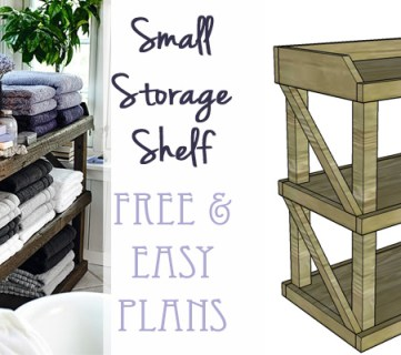 DIY Small Open Shelf Building Plan