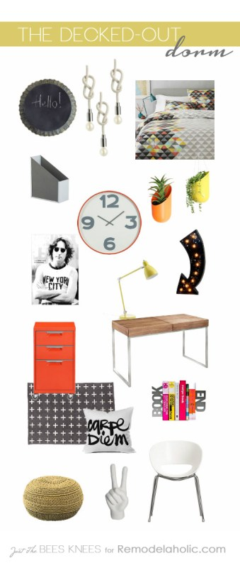 The Decked-Out Dorm: Tips for decorating a dorm room on Remodelaholic.com