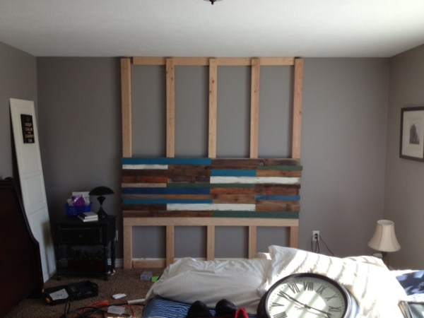 building a plank headboard wall, Pearls Pinstripes and Peanut Butter on Remodelaholic