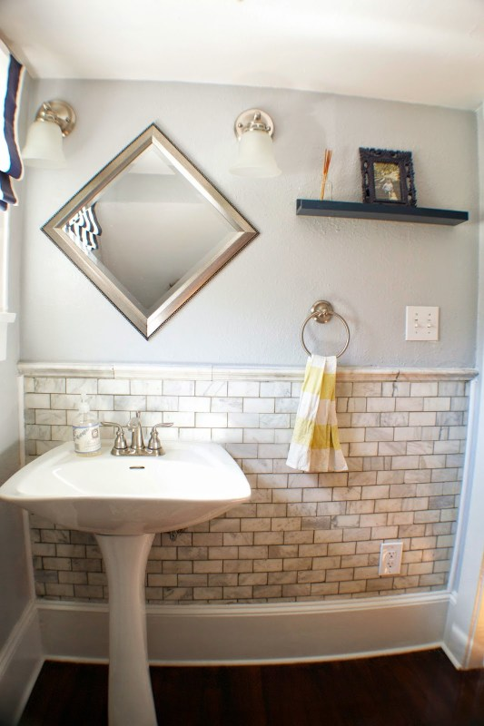 complete bathroom remodel 08, Seesaws and Sawhorses on Remodelaholic