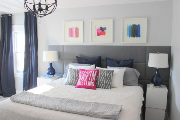 extra wide tufted headboard tutorial via Remodelaholic