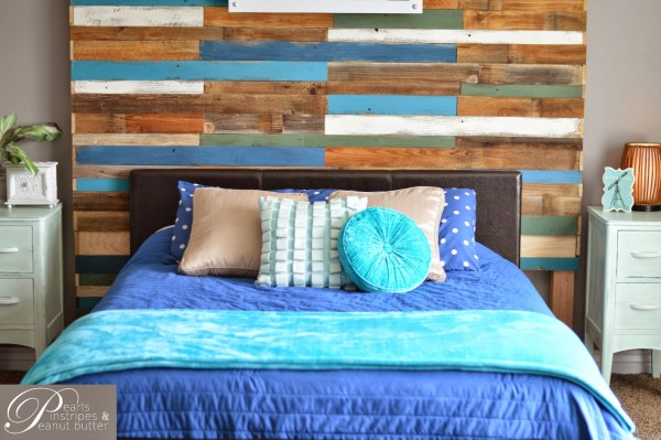 how to build a focal headboard wall, Pearls Pinstripes and Peanut Butter on Remodelaholic