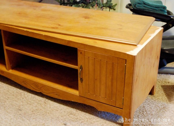how to make a console from entertainment center, The Moon and Me on Remodelaholic
