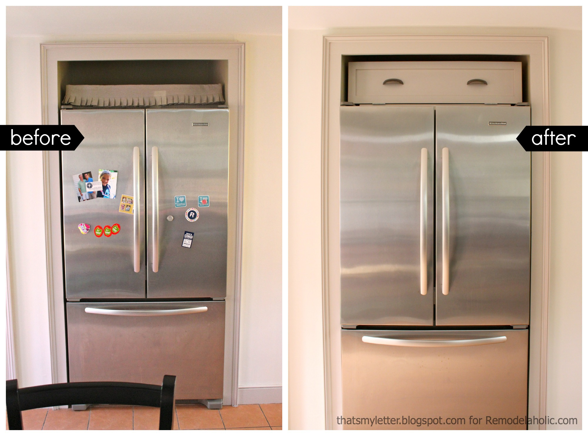 Exceptionnel Over Fridge Cabinet Before After