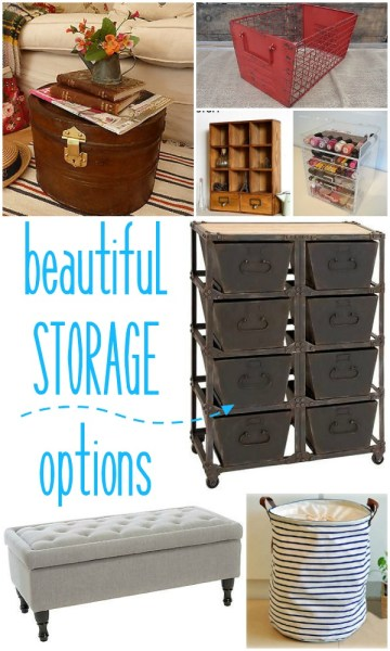 Beautiful Storage Options by Remodelaholic