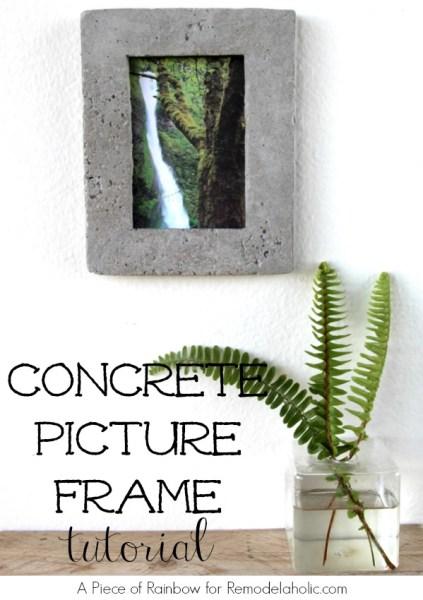 Concrete Picture Frame Tutorial