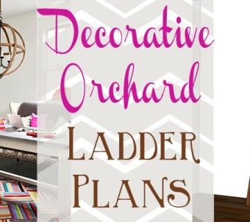 Decorative Orchard Ladder Building Plan