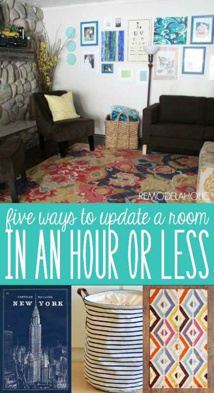 Five Simple Ways to Update a Room in an Hour or Less by Remodelaholic