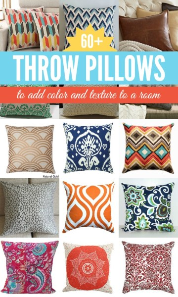 Fun and Funky Throw Pillows by Remodelaholic