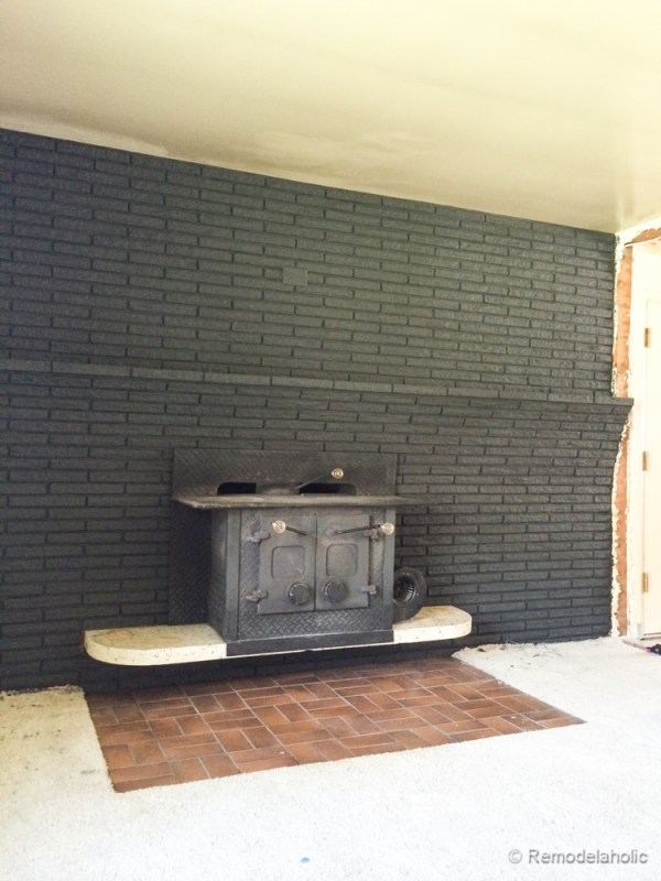 How to paint a brick mantel