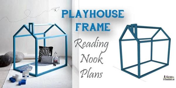 Playhouse frame reading nook free plans on remodelaholic.com