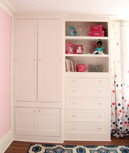 built-in closet for kids clothes and toys, Remodelaholic