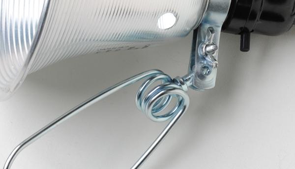 clamp lamp closeup