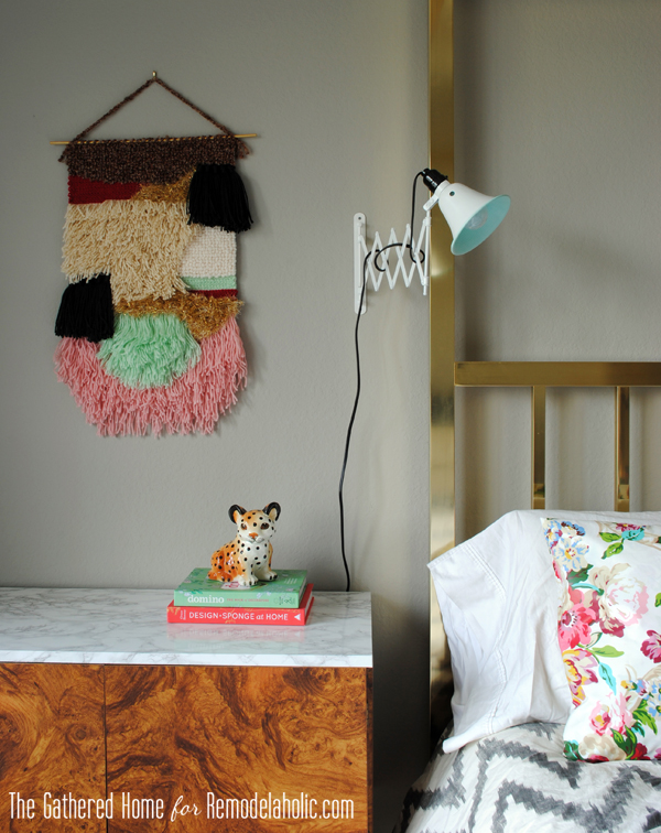 DIY Accordion Wall Lamps from $5 Ikea Mirrors by The Gathered Home for Remodelaholic.com #ikeahack #accordion #sconces