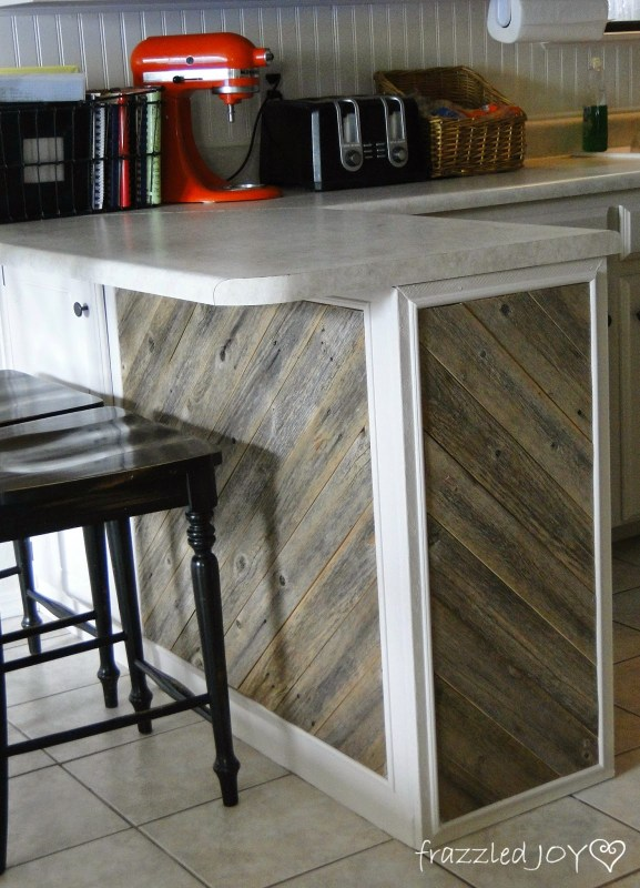 add reclaimed wood planks
