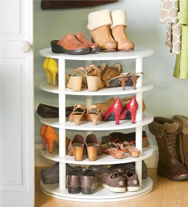 rotating shoe rack building plan