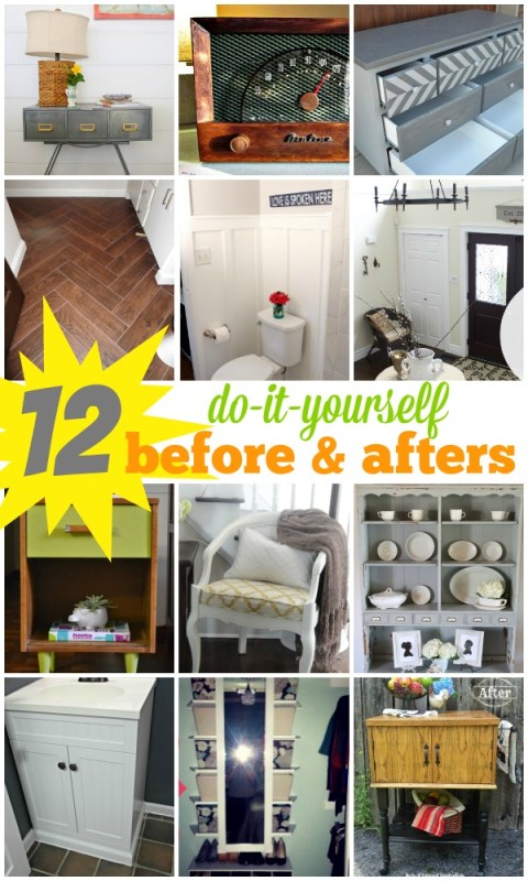 12 DIY Before and After Projects on Remodelaholic.com #DIY #buildit #makeover